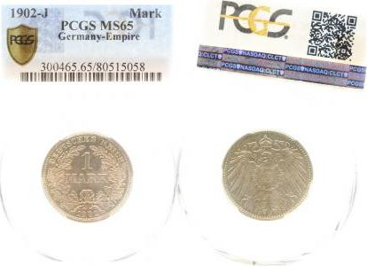 017n02J~1.1-GG 1 Mark  1902J prfr/stgl !!! MS65 J 017