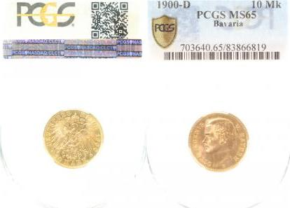 20100D~1.2-IN 10 Mark  Bayern Otto 1900D f.stgl. !! J 201