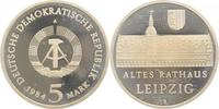 d  159684A~0.0 5 Mark  Altes Rathaus Leipzig 1984A PP in Kapsel TOP! J1596