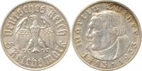 d 2.2 5 RM 35333F~2.2 5 Reichsmark  1933F Luther fast vz !!! J 353