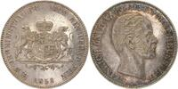 d  Th-Re-58-1.8 Ver.Thaler Reuss 1858 vz+ EA l.berieben leichte Patina !!! Thun287